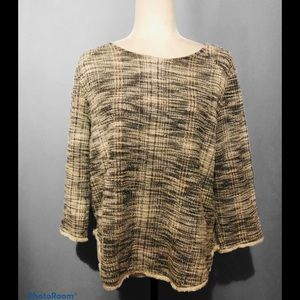 Anthropologie W5 Concepts tweed style blouse